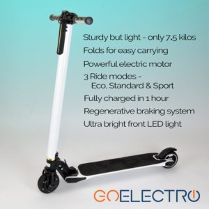 Foldable GoElectro electric scooter