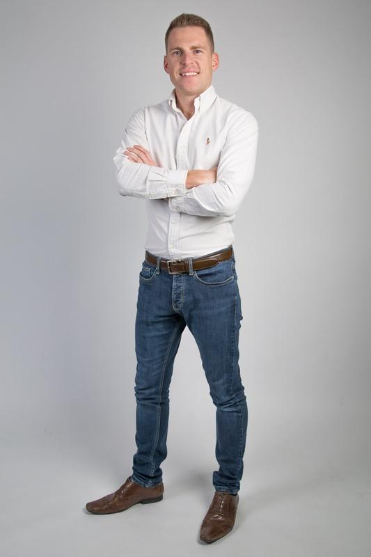 Stylish professional male entrepreneur studio portrait