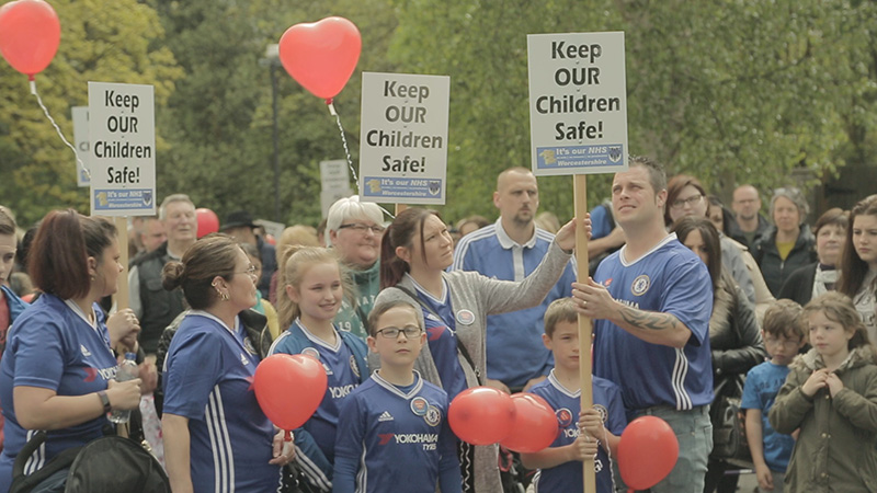 Redditch supporters marching for Callum