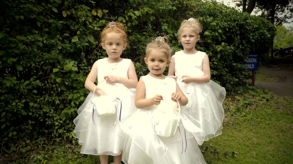 Wedding flower girls - Melissa and Luke - August 2017
